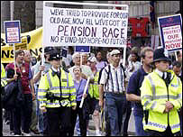 A pensions march
