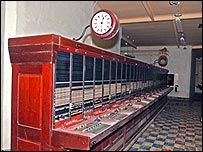 Telephone exchange in the Corsham bunker