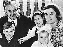 Familia real de Mónaco en 1966.