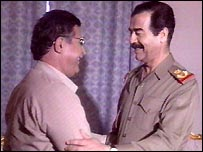 Talabani with Saddam Hussein