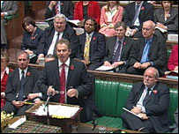 Tony Blair in Commons