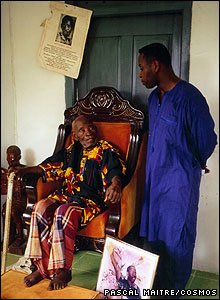 Ken Wiwa and his grandfather Pa Beesom Wiwa [Image: Pascal Maitre/Cosmos]