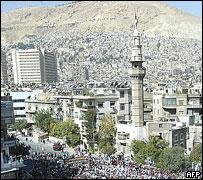 Вид на сирийскую столицу