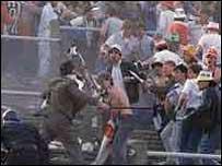 Rioting at the Heysel stadium