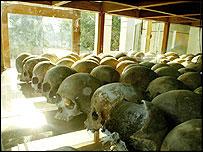Skulls at Cheoung Ek