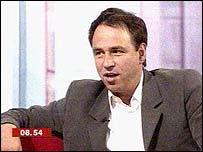 Anthony Horowitz talks to Natasha Kaplinsky in the Breakfast studio