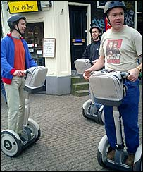 Tour guides on Segways