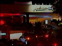 Hotel Radisson en Amman, luego de la explosión.