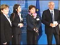 The McCartney sisters met the European Parliament president