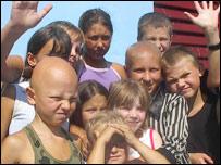 Ni�os afectados por Chernobyl en Cuba