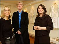 Design team: Anna Valentine, Philip Treacy and Linda Bennett
