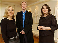 Anna Valentine, Philip Treacy and Linda Bennett