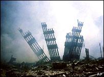 World Trade Centre ruins after the al-Qaeda attack