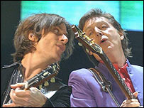 Sir Paul McCartney (right)