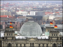 Home of Germany's lower house of parliament