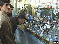 Baghdad window-shoppers