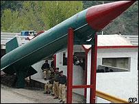 Mock missile