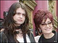 Aimee and Sharon Osbourne