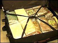 Suitcase full of drugs