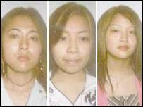 From left: He Yun Jin, Lin Xiu Ming, Weng Mei Fang