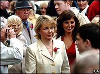 Kathryn Apanowicz [L] and Carol Vorderman