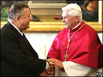 Iraqi President Jalal Talabani and the Pope
