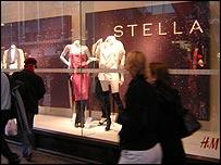 H&M store in London showcasing new Stella McCartney range