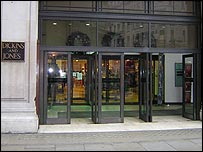 An entrance to Dickins & Jones department store in London