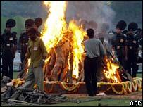 Narayanan's funeral pyre