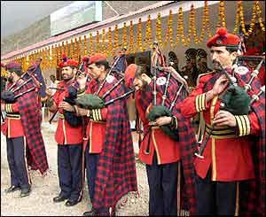 Srinagar bus send off