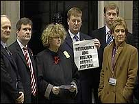 Victims' group and DUP MPs