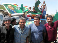 Kurds celebrate Mr Talabani's election