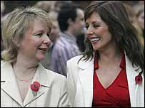 Kathryn Apanowicz and Carol Vorderman