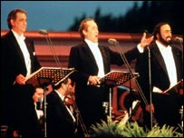 Pavarotti with Domingo and Carrerras