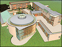 An artist's impression of the Wales Institute for Sustainable Education