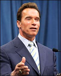 California Governor Arnold Schwarzenegger. File photo