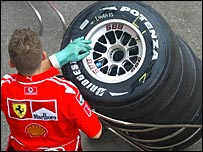 Bridgestone has enjoyed success with Ferrari