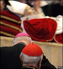 Pope John Paul II lies in state