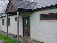 Machynlleth FC's changing rooms