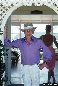 Lord Lichfield in Mustique in 1989