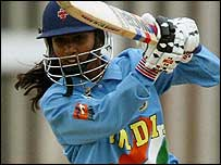 Mithali Raj batting for India