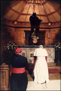 Pope John Paul II at St Mary's RC Cathedral/Copyright Pontificia Felici and L'Osservatore Romano