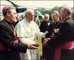 The Pope leaving Bellahouston Park/Copyright Pontificia Felici and L'Osservatore Romano