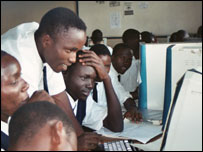 Computer users in Africa