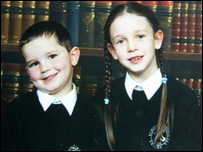 Tyler Scott and his sister Jodie (Picture from Lothian and Borders Police)