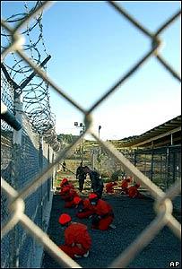 Detenidos en la base naval Guantánamo Bay.