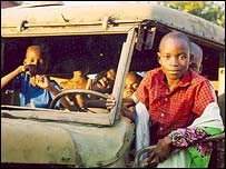 Children in truck