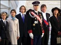 Prince Albert of Monaco, Prince Ernst of Hanover, Princess Caroline and her three children