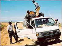 Minibus in Angola