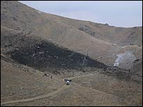 Crash site north of Kabul